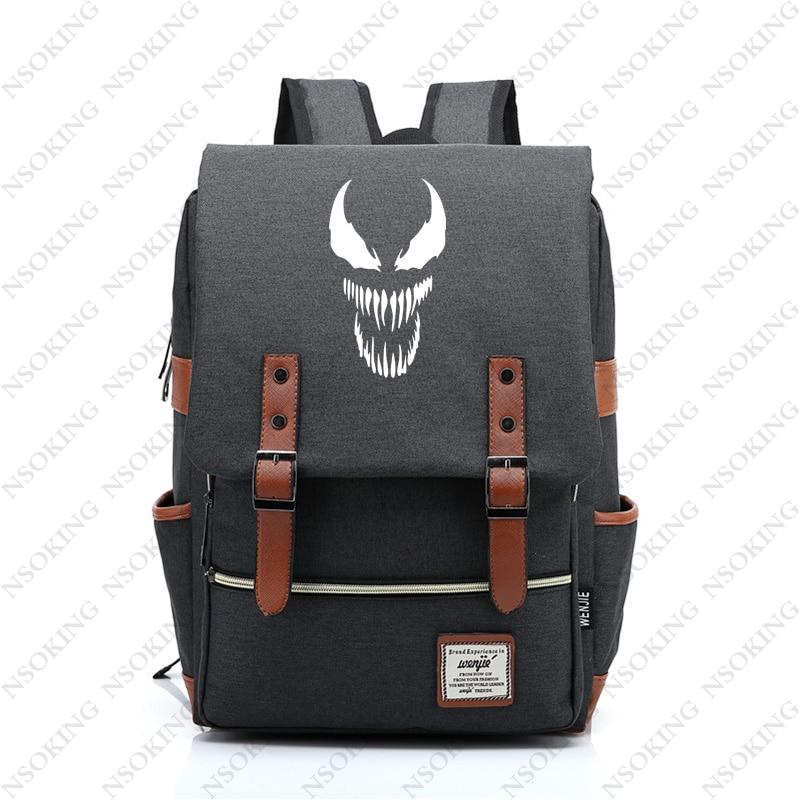 Venom Backpack New Personalized film movie Student School Canvas Bag Fashion Men Women vintage Travel Backpacks