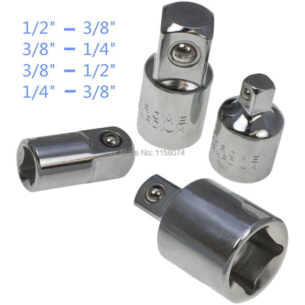 3//8, juego de adaptadores de enchufe de trinquete de acero al cromo vanadio juego de conversi/ón de extensi/ón para llaves de trinquete de 1//2 Juego de adaptador y reductor de impacto de 4 piezas