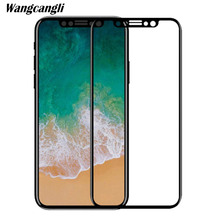 Wangcangli for iphone x glass 5D protective 8 Full screen covering film 6s plus hard 9h