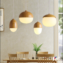 цена на Nordic led lamps simple solid wood glass creative personality living room dining room interior lamp bedroom chandelier