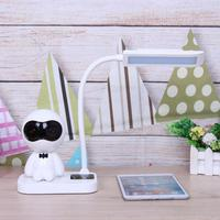 Eye Protection Table Lamps Office Reading Touch On Off Switch Lamps With Wireless Bluetooth Speaker Supports
