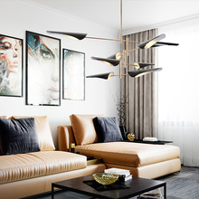 Modern E14 Flying Fish Chandelier Nordic Europe Dinning Living Foyer Hangin Lamp Post LED Pendant Luminaire Lighting