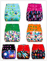 1pcs Reusable AIO Cloth Diaper with 1pcs Microfiber Inserts One Size Cloth Diaper, Waterproof Reusable Diaper for Baby