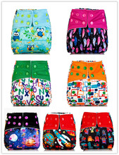 1pcs Reusable AIO Cloth Diaper with Microfiber Inserts One Size Diaper, Waterproof for Baby