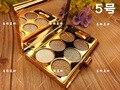 2016 Nuevo Diamante Brillante Sombra de Ojos Nake Paleta de Maquillaje 6 Colores de Sombra de Ojos Paleta Con el Cepillo Imprimación Ojo Set de Maquillaje