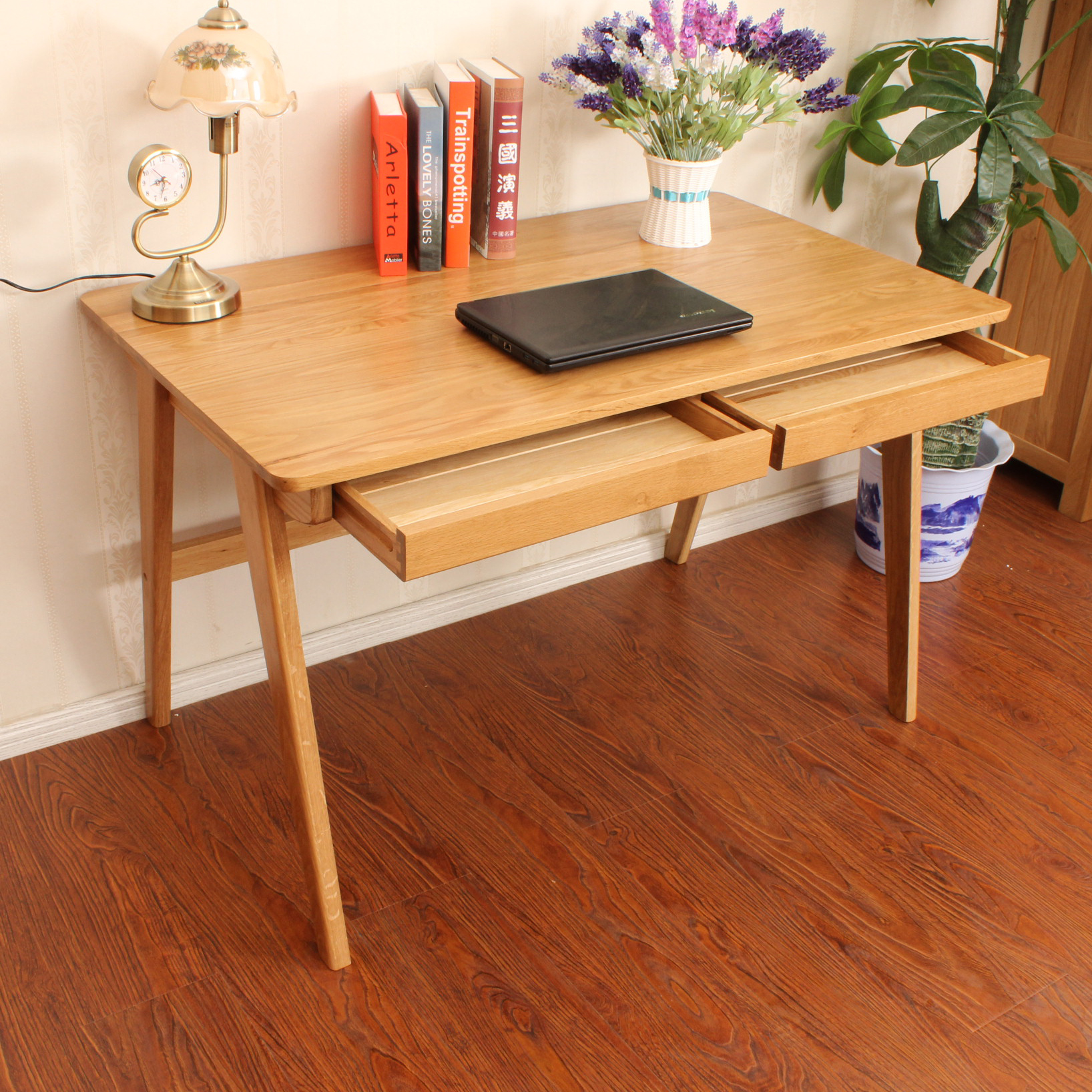 Table Direct Study Tables Oak Wood Desk With Drawers