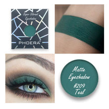 อายแชโดว์สีเขียว Matte โลหะ Cool Monochrome Eye Shadow Powder Custom Magnetic Pan อายแชโดว์ Series Shiny Sequins Eye Shadow Po/(China)