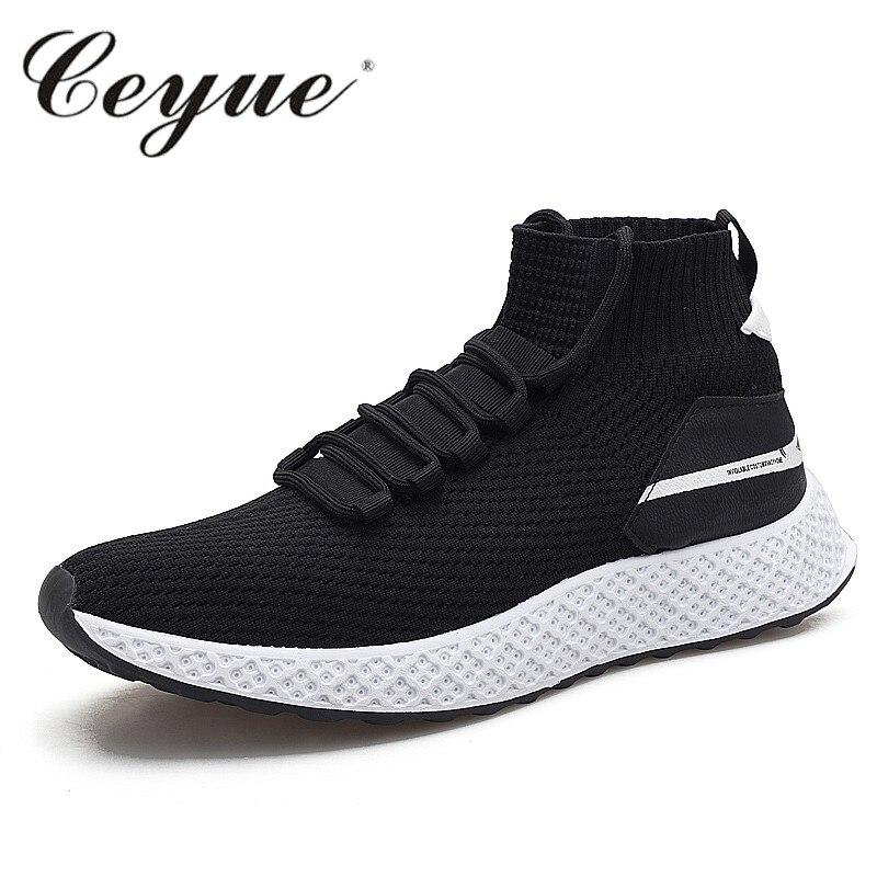 Black Sneakers Haute Air Respirant Black Chaussures Mode Nouvelle all Soft Souple Maille White Top Espadrilles En Casual Red Hommes Plein black zq486UB