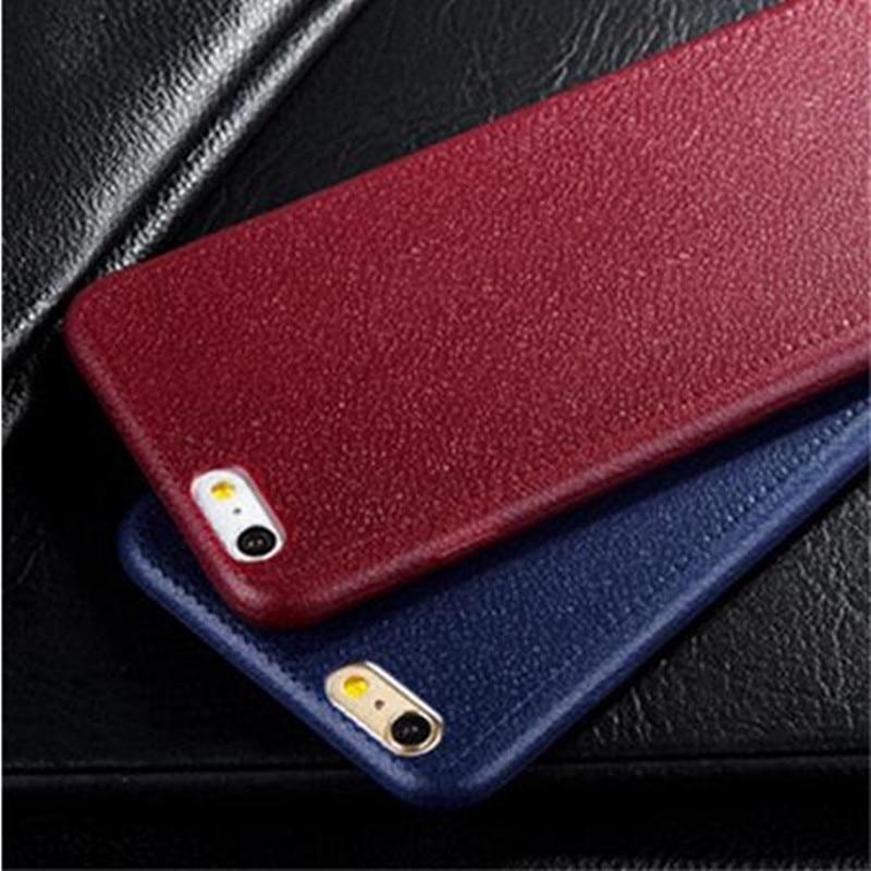 Para el iphone 7! Patrón de Textura de Cuero Fino estupendo Del Teléfono Casos P