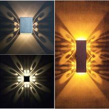Modern 3W 6W LED Wall Light Creative Butterflys Wall Sconce Lamps Indoor KTV Aisle Decoration LED Wall Lamp AC85-265V creative lovely handmade sands shells cat led e14 clock wall lamp for children s room aisle kid s presents ac 80 265v 1236