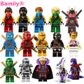 [Bainily] Dar Tarjetas 15 unids Ninjagoes Cole Jay Kai Lloyd Nya Building Blocks Figuras Juguetes Compatible Con Legoe