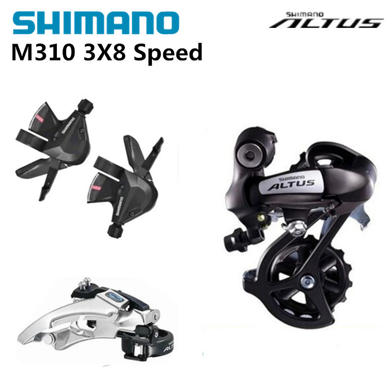 Shimano ALTUS M310 3 PCS Groupset 3x8 24 Speed Rear Derailleurs+Front Derailleurs +Shifter lever for MTB Mountain bike bicycle все цены
