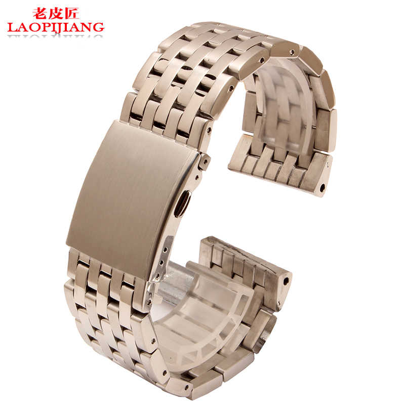 Argento cinturino in acciaio nero 24 millimetri 26 millimetri 28 millimetri 30 millimetri di metallo cinturino per diesel DZ4283 DZ7221 DZ7257 DZ7334 watch band