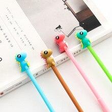36 pcs/Lot Cute dinosaur gel ink pen 0.5mm ballpoint Black pens gift Stationery Office School supplies Canetas escolar A6453