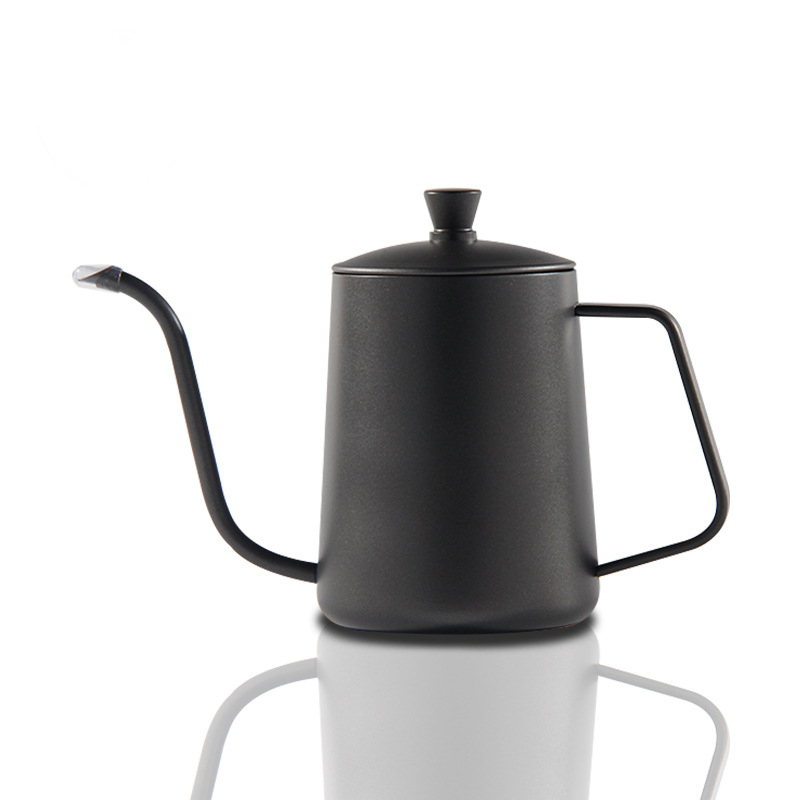 Drip Kettle Coffee Tea Pot Teflon Antiaderente Food Grade In acciaio inox a collo di cigno Drip Kettle Swan Neck Thin Mouth 600ml