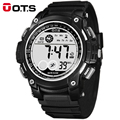 OTS Cool Digital-watch Digital Men Sports 50M Swim 55MM Large Dial Hours Military Luminous Outdoor Wristwatches 2016 Fashion