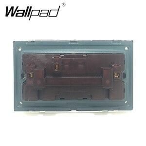 Image 2 - 146 Double 13A UK Switched Socket Wallpad Crystal Glass Panel 110V 250V 146*86mm UK Standard Wall Socket Plug Power Outlet