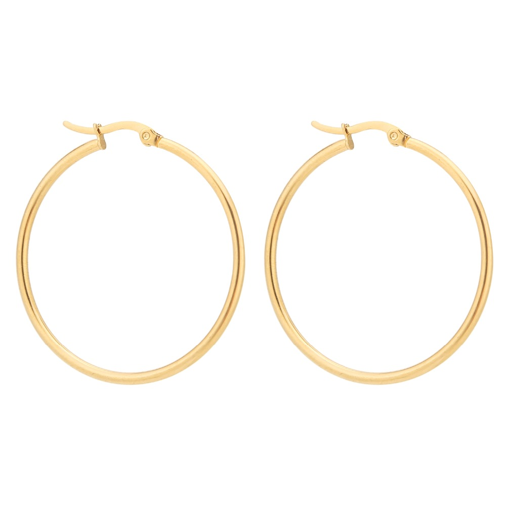 5 Pairs Gold stainless steel Hoop Earring