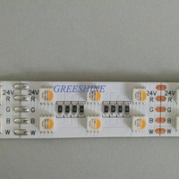38วัตต์RGBW RGBWW 5050 Led S TripไฟDC 12โวลต์24โวลต์4 in1ไฟLedไม่กันน้ำ120led/mในร่มกลางแจ้งตกแต่งบ้าน10