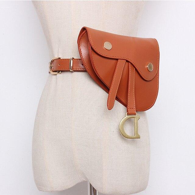 Multipurpose Fanny Packs for Women PU Leather Waist Pack Serpentine Bum Bags Fashion Female Bag On The Belt Luxury Design Purse