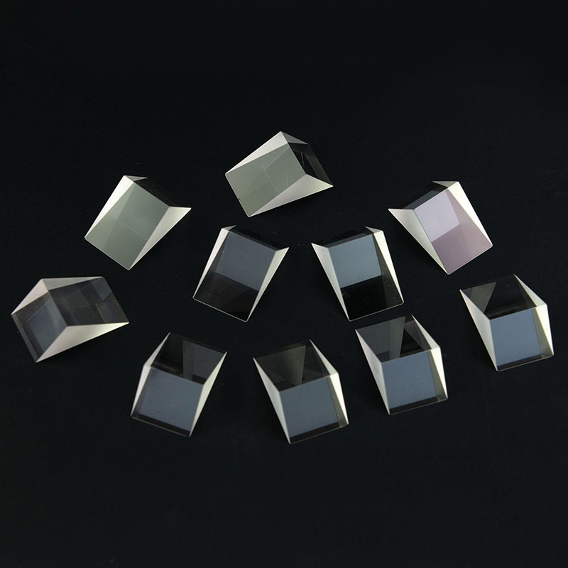 10 PCS Defective Triangle Prism Optical Component for Educational Teaching