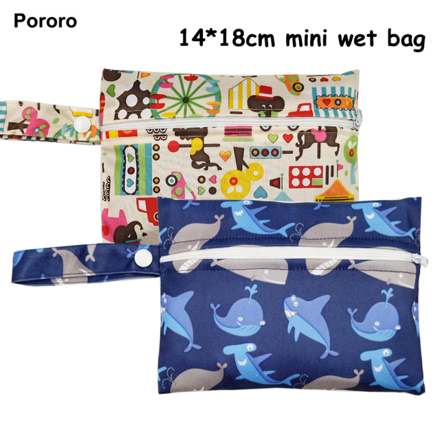 14*18cm Mini size Reusable Wet Bags for Mama Cloth Menstrual Pad,15 designs waterproof bag for nursing pads,sanitary pads holder   Happy Baby Mama