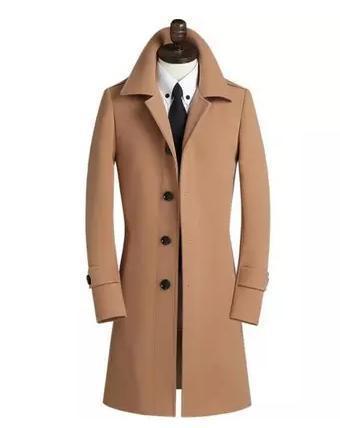 De color caqui de lana abrigos de moda abrigo de lana hombres casaco masculino mens guisante escudo slim fit abrigo masculino mens cashmere coat plus tamaño 9XL