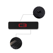 Car Accessories Door Sills For Citroen C3 Threshold Plate Sill Scuff 4D Carbon Fiber Vinyl Sticker 4Pcs