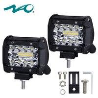 NAO 4 Inch LED Work Light 60W Bar Bulb 12V 24V Spot Flood Lights For Trucks