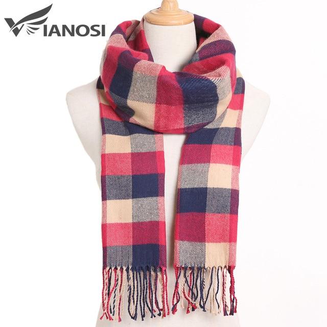 Plaid Winter Warm Foulard Solid Fashion Casual Cashmere Scarfs 4