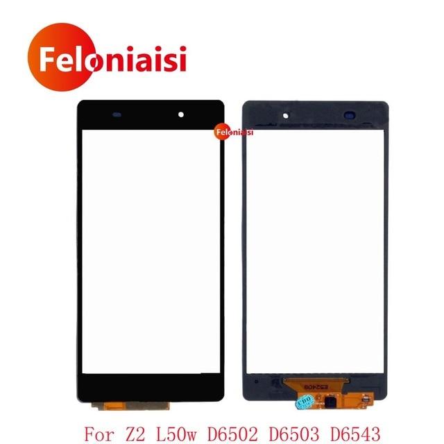 "10Pcs/lot High Quality 5.2"" For Sony Xperia Z2 L50w D6502 D6503 D6543 Touch Screen Digitizer Sensor Outer Glass Lens Panel Black"