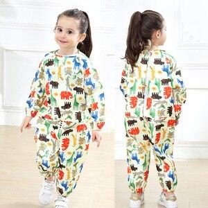 Image 5 - Yudingกันน้ำเสื้อกันฝนเด็กเด็กRain Coatโดยรวมเด็กภาพวาดเสื้อผ้าขี้เล่นน้ำชุด 70 120 ซม.