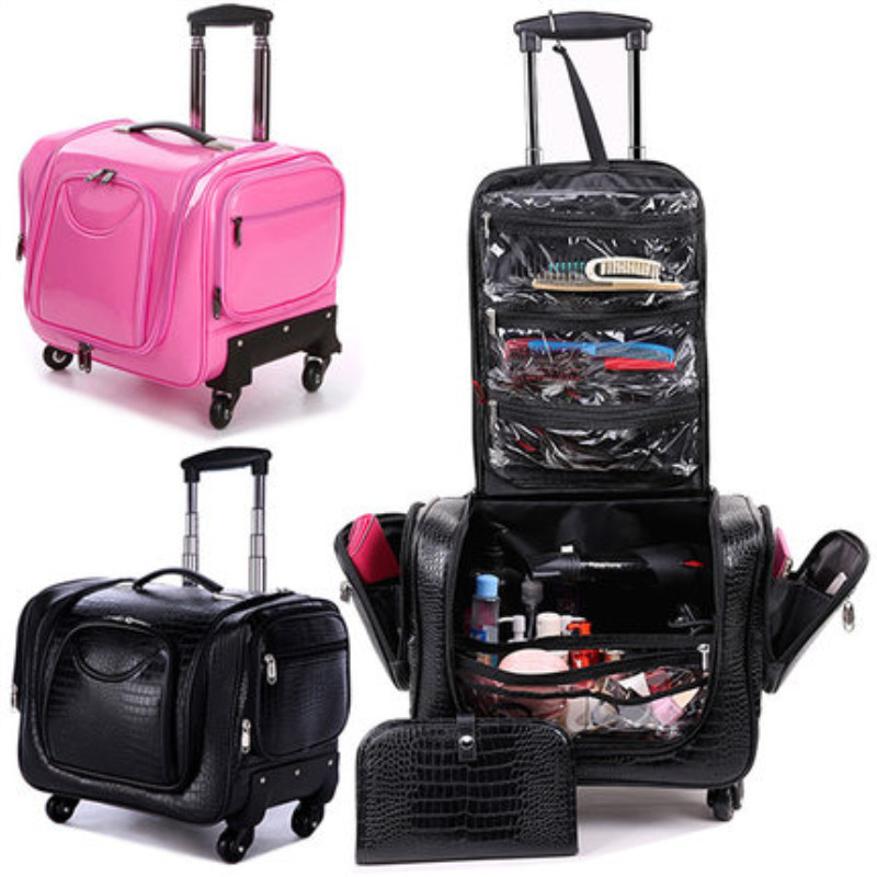 Professional trolley cosmetic case,Makeup Luggage bag,Univer