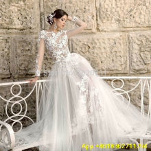 Cianlsria Mermaid Wedding Dress Detachable Train