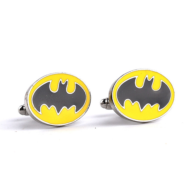The New Batman Hero Complex Black And Yellow Mens Cufflinks French