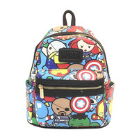 Unisex Leather Backpack for Teenager Boys Girls Anime Marvel Avengers Students Schoolbag Super Hero Cartoon Bags Gifts mochila