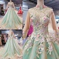 Vestido Debutante Gowns Ball Gown Quinceanera Dresses Lime Green Off the Shoulder 3D Flowers Sweet 16 Dress Vestidos De 15 Anos