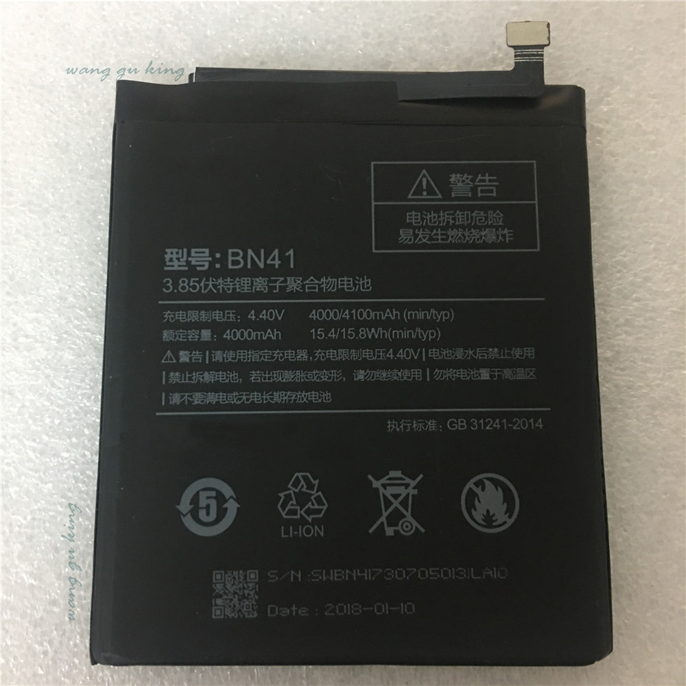 2018 neue 100% Original Backup neue BN41 BN41L BN41H Batterie 4000 mah für Xiaomi Redmi Hinweis 4 Batterie auf lager tracking nummer