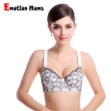 272b756d98 Emotion Moms Free shipping 100% cotton Plus size Cups Push Up Gather  Fashion lace Nursing
