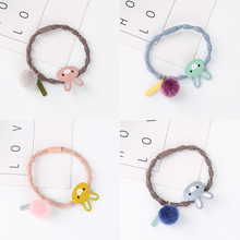 Girls Cute Cartoon Alloy Rabbit Ball Elastic Hair Rubber Bands Ornament Ropes Headbands Accessories