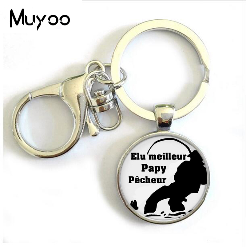 Elu Papy De L'annee Pendant Keychain Women Charms Tues Une Mamie Qui Dechire Jewelry Super Papa Mamie Key Chain Ring Family