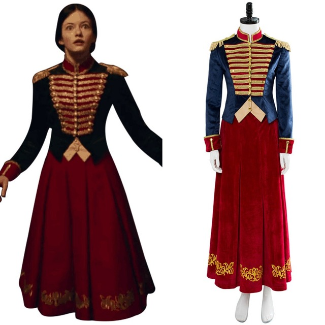 2018 The Nutcracker And The Four Realms Clara Cosplay Costume Adult Women  Girls Dress Uniform Halloween Cosplay Costumes ea0233e00a1e