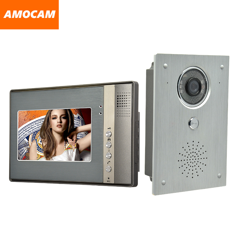 7 Monitor Video Door Phone System Video Intercom IR Night Vision alloy Door Camera wired alloy video doorbell interphone kits 9 big monitor video door phone doorbell system video intercom ir night vision door alloy camera video doorphone ui interface page 6