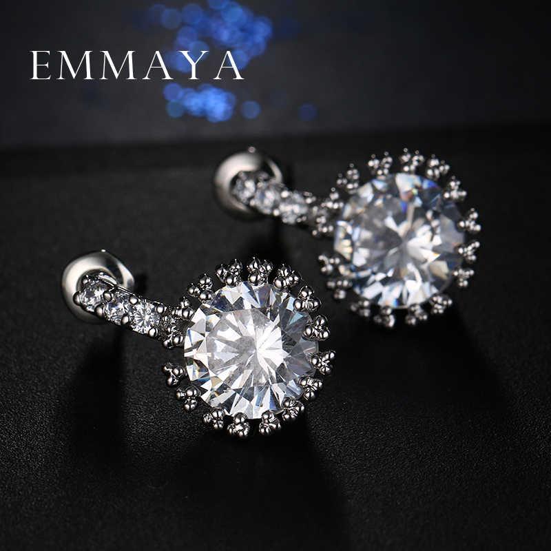 Серьги Emmaya с кристаллами женские, модные ювелирные украшения для свадьбы и Помолвки