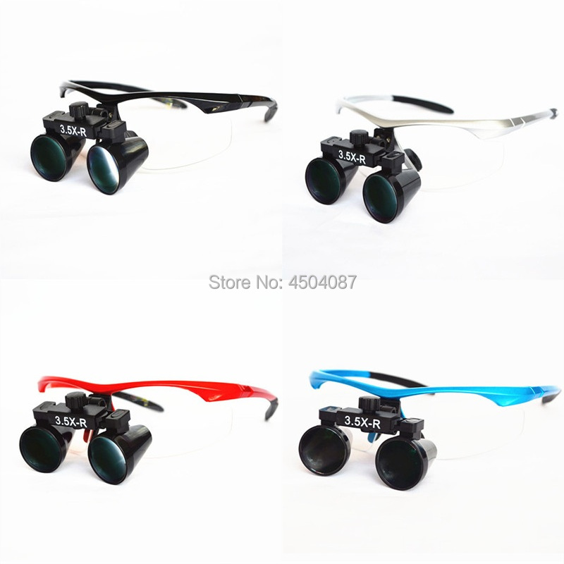 все цены на High Quality Plastic Frame Medical Loupes 3.5X Binocular Magnifier Medical Dental Surgical Loupes 4 Color Option онлайн
