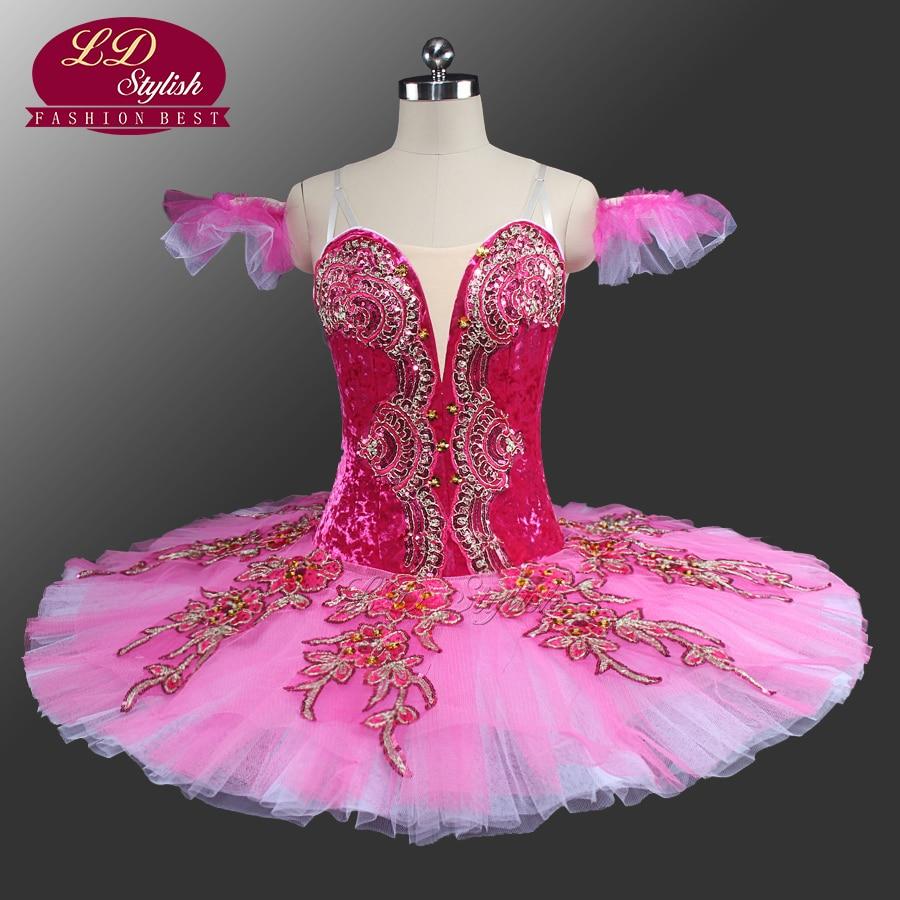 Princess Aurora Professional Ballet Tutu Peach Fairy Classical Tutu Ballet Costumes Sleeping Beauty Pink Pancake Tutu LD0042