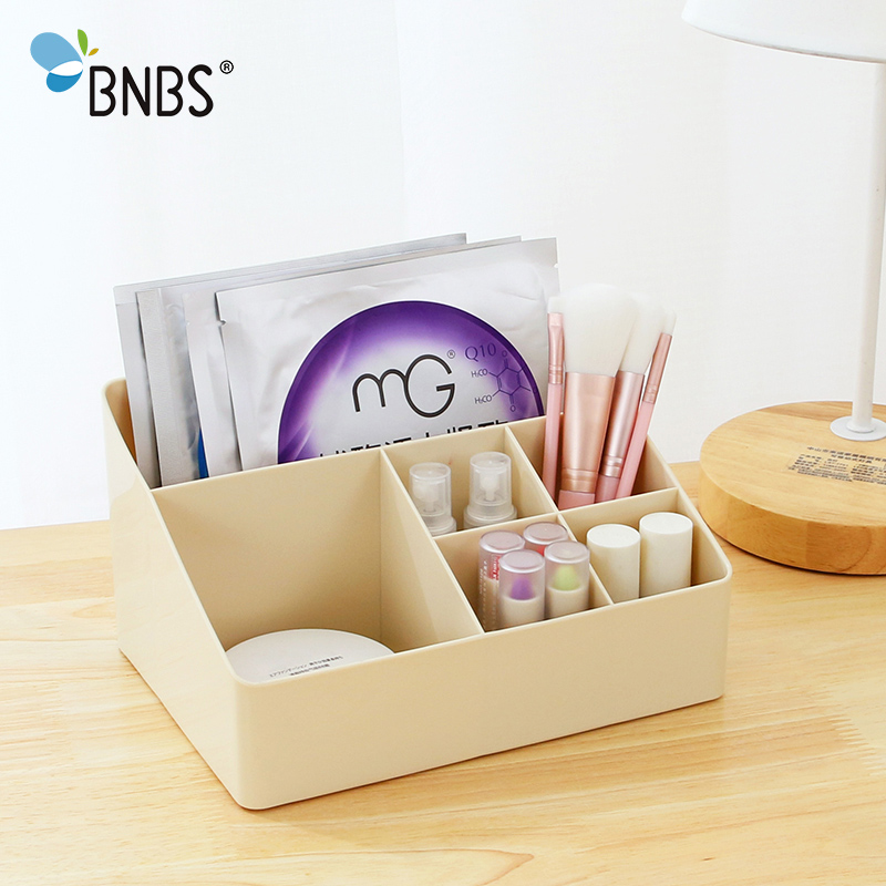 BNBS Multifunctional Mini Makeup Organizer Desktop Storage Box Office stationery Sundries plastic Box Cosmetic Jewelry Container