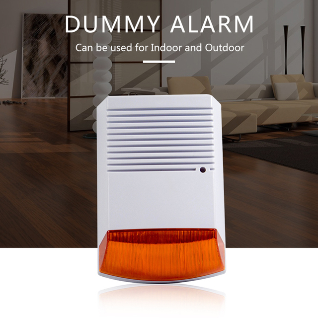 Fack sirena estroboscópica de alarma para exteriores, resistente al agua, con Flash rojo luz infrarroja, Led, alerta de seguridad para el hogar, sistema de alarma antirrobo