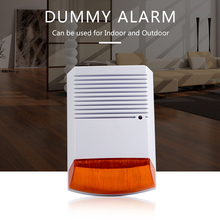 Sahte Alarm Strobe Siren ile açık su geçirmez kırmızı flaş ışık kızılötesi Led uyarısı ev güvenlik hırsız Alarm sistemi