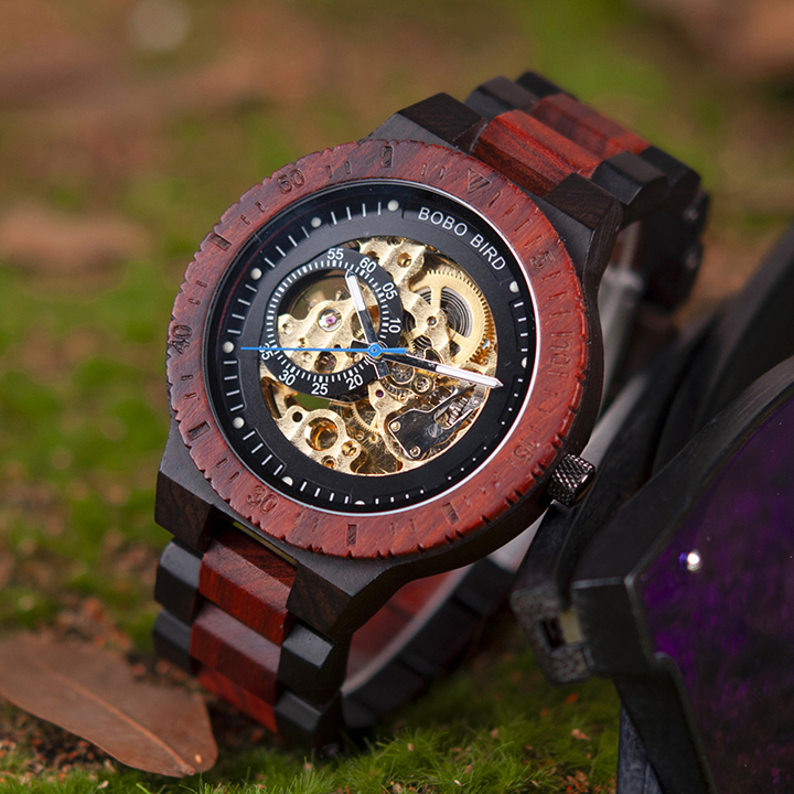 HTB10rXPkyQnBKNjSZFmq6AApVXai Personalized Customiz Watch Men BOBO BIRD Wood Automatic Watches Relogio Masculino OEM Anniversary Gifts for Him Free Engraving